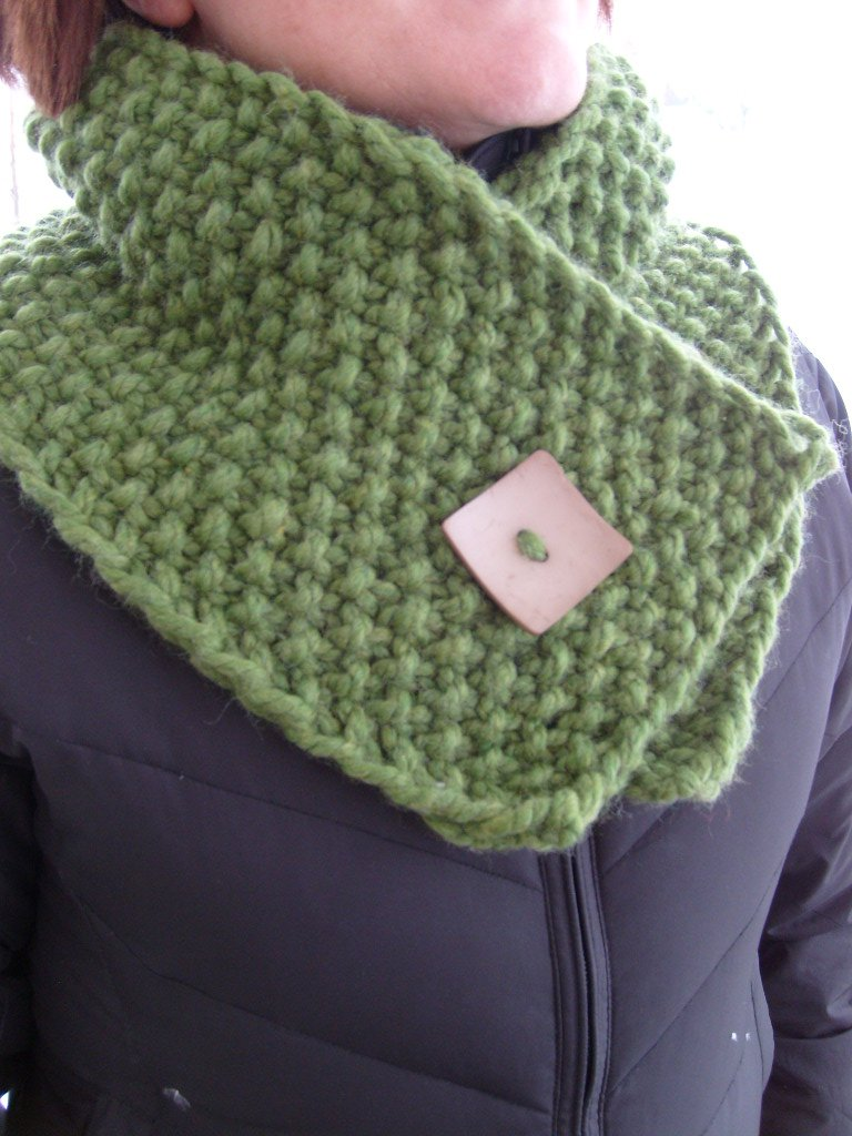 Moss Stitch Scarf Knitting Pattern : Bulky and Warm Neck Wrap Nancyknits Blog
