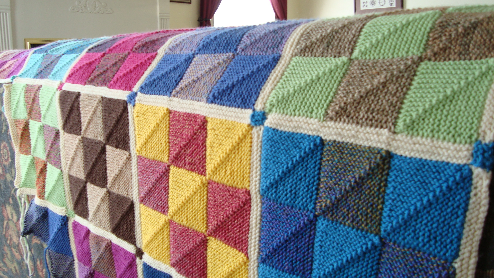 Knitting Patterns For Squares : nine patch Nancyknits Blog