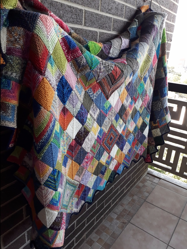 Blanket on wall